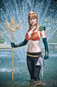 Stunning Aquawoman Cosplay [ Swordnarmory.com ] Aquaman Crossplay DC #Rule63 #cosplay
