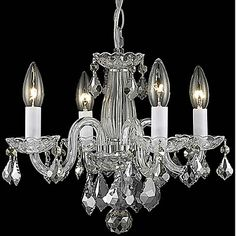 60W Contemporary Chandelier with 4 Lights in Candle Feature – USD $ 119.99