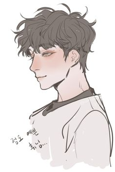 Drawing Male Hair, Short Hair Drawing, Drawing Poses, Hair Styles Drawing, Anime Boy Drawing, Cute Boy Drawing, Anime Boy Sketch, Anime Poses Reference, Hair Reference
