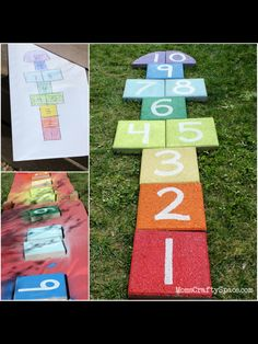 Hopscotch from paving stones