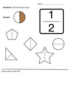 math worksheet : a simple fraction worksheet cutting shapes into fourths!  first  : Introduction To Fractions Worksheet