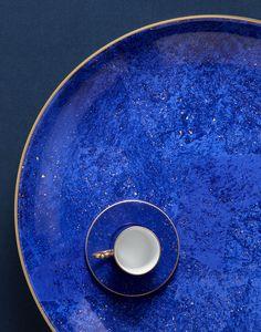 L'Objet - Lapis round platter + espresso cup