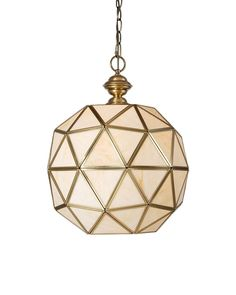 Use this Modern Ball Shape Brass Copper Pendant Light with Multi-Faceted Glass Shade to change the décor of your room. With lots of small triangles forming the ball shape shade, it is capable of sending illumination to all directions. Featuring copper frame and mounting assembly, it is endowed with long life span. Elegantly hung by the charming chain, it matches any type of home décor.