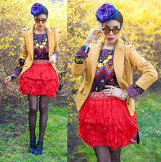 African inspired. Love the skirt