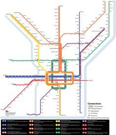 Submission - Fantasy Map: A. Merritt Taylor's Rapid Transit Plan for Philadelphia by Arthur Etchells