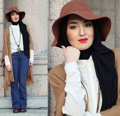 How to wear floppy hat with hijab-How to wear chic hijab in cold winter days – Just Trendy Girls