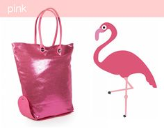 elegant and sparkling shopping bag, My Favorite Color, My Favorite Things, 2015 Trends, One Bag, Bago, Spring Summer 2015, Fashion Spring, Flamingo, Shopping Bag
