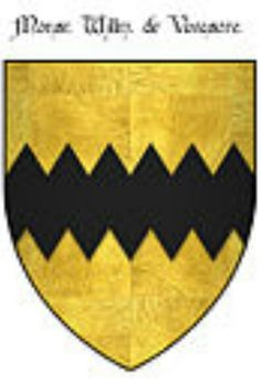 A modern representation of the arms of Vavasour  (Or a fess dancetty Sable).