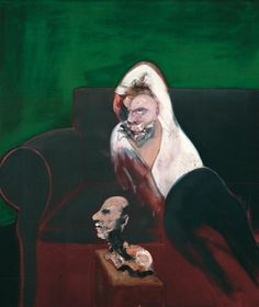 Francis Bacon (British, 1909-1992), Reclining Man with Sculpture, 1961. Oil on canvas, 165 × 143 cm.