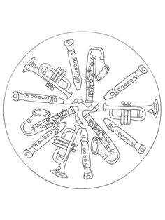 musical instruments coloring pages for kids music class