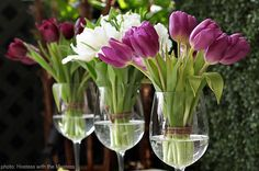Great Centerpiece for Wine themed party or spring party