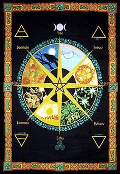 Pagan Wheel of the Year Tapestry - LOVE IT