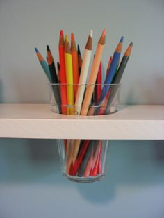 Art supply shelf