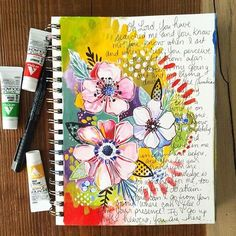 Art journal inspiration. Gouache and watercolor, I think.