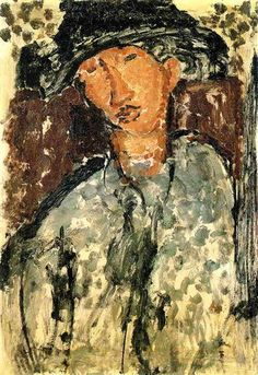 Learn more about Chaim Soutine I Amedeo Modigliani - oil artwork, painted by one of the most celebrated masters in the history of art. Amedeo Modigliani, Joan Miro, Matisse, Chaim Soutine, Italian Painters, Art Database, Beautiful Paintings, Oeuvre D'art, Van Gogh