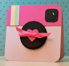 Pink Instagram card (with pictures)