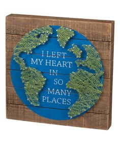Look at this 'Many Places' Wood & String Wall Sign on #zulily today!