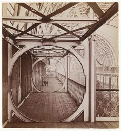 """""""Bulls Eye Gallery"""" North end of nave - Crystal Palace, London, ca. 1855"""