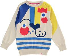 PICASSO Jacquard knit jumper / CREAM