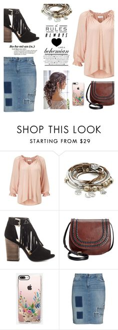 """~~BOHO Style~~"" by avathegirlwithbooks ❤ liked on Polyvore featuring Velvet, Lizzy James, Chinese Laundry, Tignanello, Casetify and Frapp"