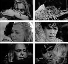 Bellamy and Clarke + hugs, The 100