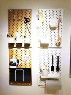 skadis in the kitchen at DuckDuckGo Kallax, Inspiration Ikea, Catalogue Ikea, Interior Walls, Interior Design, Ikea Craft Room, Closet Layout, Wall Organization, Decoration