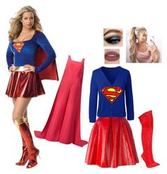 """""""Supergirl- Help from Adrianna (Little Sister)"""" by batgirl-at-the-walking-dead3 ❤ liked on Polyvore featuring Marc Jacobs, Lands' End, Casadei and Rosie Assoulin"""