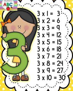 - 🌎Mundo Kids By Marly💋 - Tabuada pronta pra imprimir ! Multiplication Activities, Kindergarten Math Worksheets, Teaching Math, First Grade Activities, Kids Learning Activities, Love Parents Quotes, File Folder Activities, Math Formulas, Teacher Supplies