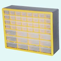 GFORGE 44 Drawer Heavy Duty Plastic Organizer Storage Box Transparent simple-pull drawers Rugged high have an effect on case for sturdiness Overall Storage Drawers, Storage Organization, Plastic Organizer, Drawer Pulls, Box, Snare Drum, Drawer Handles, Storage Crates