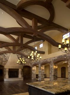 Love the detailed beams. #Tuscan