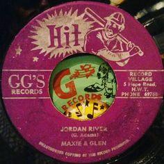 Jordan River.  #reggae #jamaica #45rpm #dub #reggaelabelart #maxromeo #glenadams #maxieandglen #jordanriver #ggrecords #hitrecords #baseball #hardhitter #batsman #ggsrecords #ggshitrecords #alvinranglin #recordvillage #hoperoad #kingston #reggaefever #rootsmusic #rootsreggae #madeinjamaica by albwizz