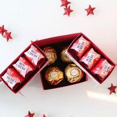 Qui n'aime pas les surprises?Avec cette boite chocolats surprise qui renferment un tiroir caché sous les chocolats, vous pourrez en surprendre plus d'un !