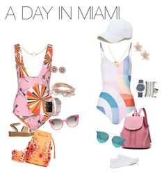 """""""Two looks ! TWO Days in Miami !"""" by nickilamoneaharvey on Polyvore featuring Emilio Pucci, Mara Hoffman, Marina Hoermanseder, Vans, TIBI, Sole Society, Boohoo, Gucci, Mixit and NAKAMOL"""