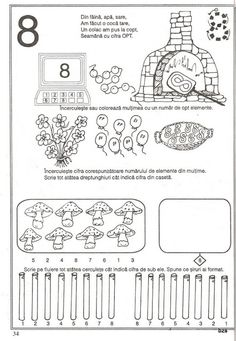 57 atividades de matemática para sala de aula - Como Fazer Preschool Worksheets, Kindergarten Activities, Preschool Activities, Paper Trail, Math Numbers, Pre School, Mathematics, Coloring Pages, Bullet Journal