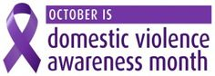 October is Domestic Violence Awareness Month and we stand against ALL forms of Domestic Violence, against people of all ages and genders.
