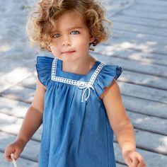 Vestido niña denim Barco #PAZRodríguez