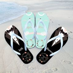 f59d1565dc5af7 31 Best Just Married Flip Flops   Wedding Flip Flops images