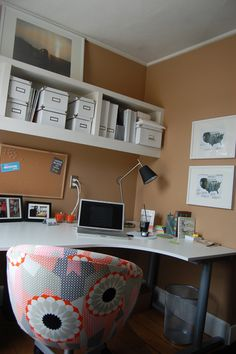 Home office - beautiful desk - lovely, functional, clutter-free workspace for the home.