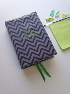 Gray Chevron NWT Bible Cover with Holy Scriptures Embroidery and fox elastic by keepeweclean on Etsy https://www.etsy.com/listing/222423495/gray-chevron-nwt-bible-cover-with-holy
