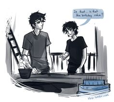 Nico and Percy I remember this scene