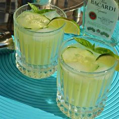"""Basil-Cucumber Mojito I """"This is a great alternative that brings together the complex aromatic flavor of basil and the cool, refreshing splash of a cucumber."""""""