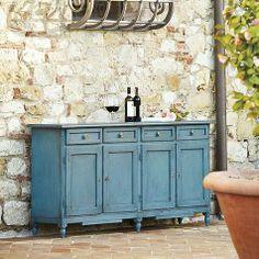Beautiful blue Antoinette Extended Sideboard