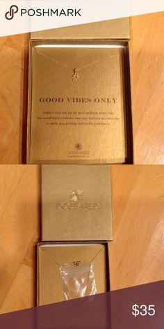 """Dogeared Sun Good Vibes Only gold 16"""" necklace New in box 16"""" gold-dipped Sun charm """"Good Vibes Only"""" Dogeared brand necklace Dogeared Jewelry Necklaces"""
