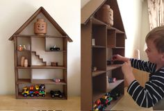 DIY Cardboard Lego Storage House Case