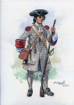 French; Fusilier c.1690 by P.Courcelle