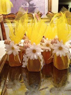 "Honey favors for ""What will it Bee?"" Babee shower"
