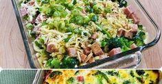 1 brokuł* pół kilo dowolnej szynki ( w jendym kawałku)* 2 jajka* starty ser żółty * sól, ew. przyprawyBrokuły umyć i lekko podgotować aby były jeszcze twarde. Szynkę pokroić w ... Mozzarella, Broccoli, Potato Salad, Healthy Recipes, Baking, Vegetables, Ethnic Recipes, Check, Food