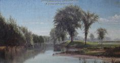 View from Pride's Bridge, Portland, 1861. Harrison Bird Brown (1831-1915) painted the Presumpscot River in Portland as seen from Pride's Bridge. Brown, who worked as a sign and banner painter, was best known for marine and landscape paintings. A native of Portland, he was president of the Portland Art Society in 1892. He also moved to London that year. The Longfellow family hung this painting in their sitting room at the family home in Portland. Item # 40339 on Maine Memory Network