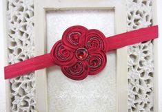 Red Flower Headband Posh Mini Red Beaded by TheFairyFactoryShop, $8.95