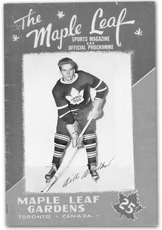 Bill Barilko scored Stanley Cup winning goal in 1951 Hockey Games, Hockey Players, Toronto Gardens, I Am Canadian, Good Old Times, National Hockey League, Toronto Maple Leafs, Stanley Cup, Eat Sleep